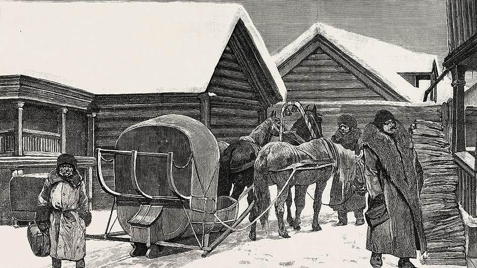Постоялые дворы, организация курьерской почты и скорость передвижения по зимним дорогам привлекали внимание многих мемуаристов
