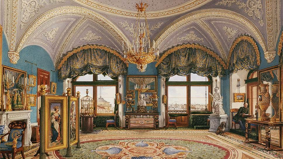 Николай I принимал самое активное участие в очередной перестройке Зимнего дворца, хотя и не обладал, по словам современников, достаточным вкусом