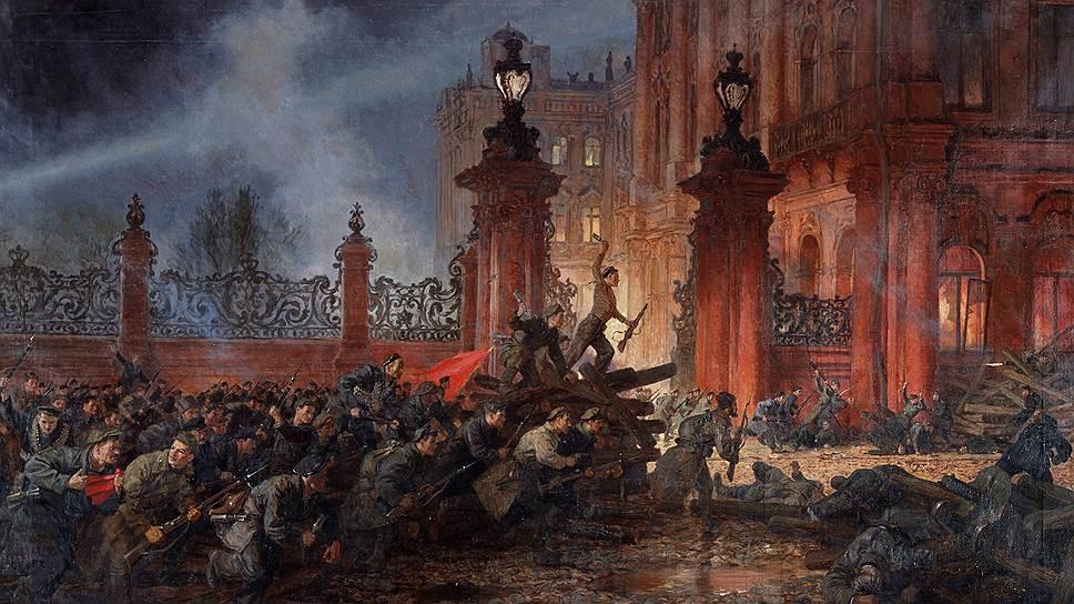 Большевикам, взявшим Зимний, его цвет тоже не давал покоя, и для начала они выкрасили его красной краской
