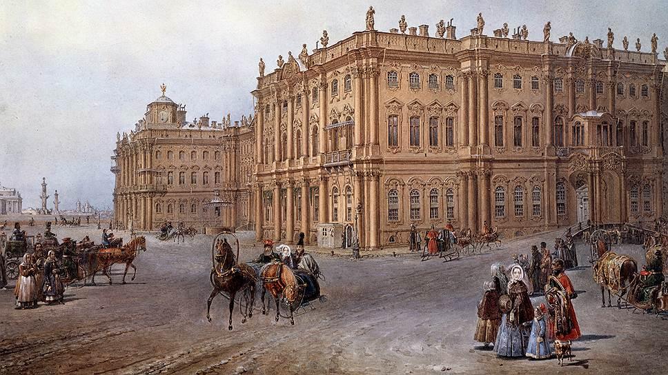 При Екатерине II и Александре I Зимний дворец был желтого цвета