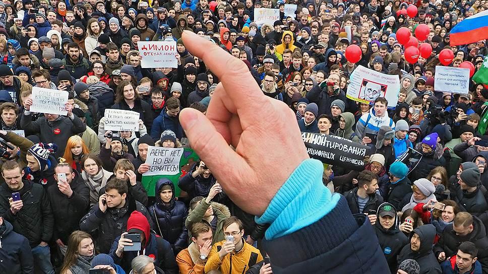 По свидетельствам очевидцев, в Санкт-Петербурге на акции протеста было много молодежи