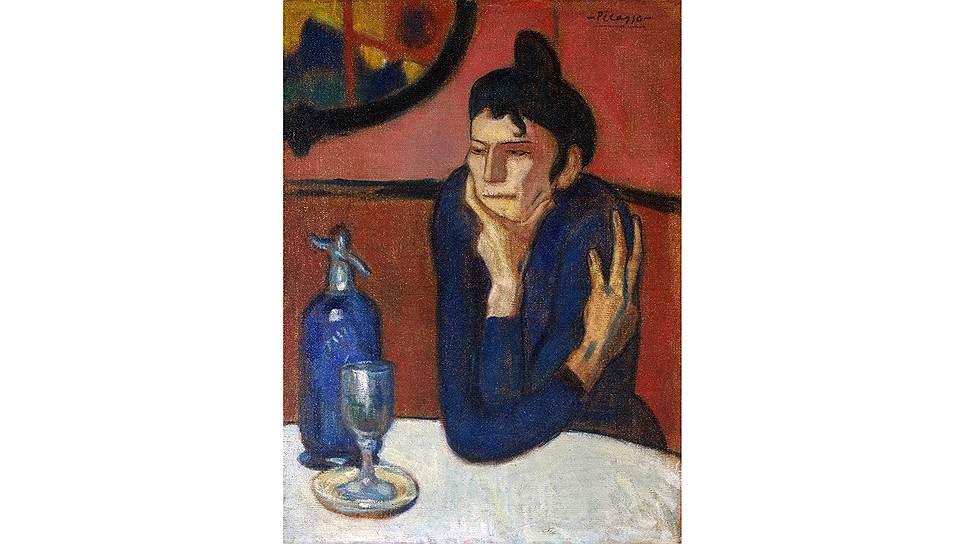 """""""Любительница абсента"""" Пабло Пикассо: алкоголизм как следствие попытки избавиться от тревожности был весьма распространен в богемной среде"""