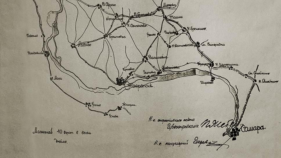 """К середине марта 1919 года почти весь Ставропольский уезд был под контролем восставших """"чапанов"""""""