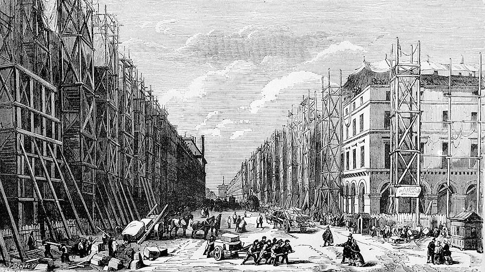 Первой реконструированной улицей стала Рю-де-Риволи