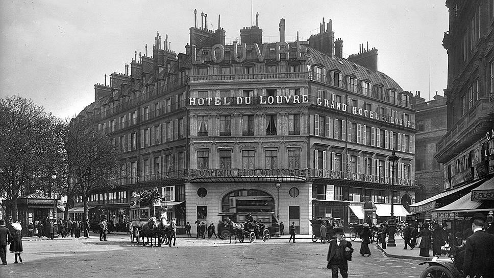 На Рю-де-Риволи к выставке 1855 года построили роскошный «Гранд-Отель дю-Лувр»