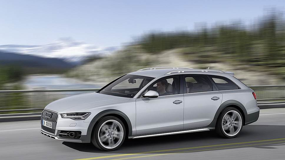 Audi A6 Allroad Quattro — давний и сильный игрок на рынке полноприводных вседорожных универсалов. Прекрасное шасси, пневмоподвеска с возможностью увеличивать клиренс, 333-сильный шестицилиндровый мотор и цена от 3,850 млн руб.