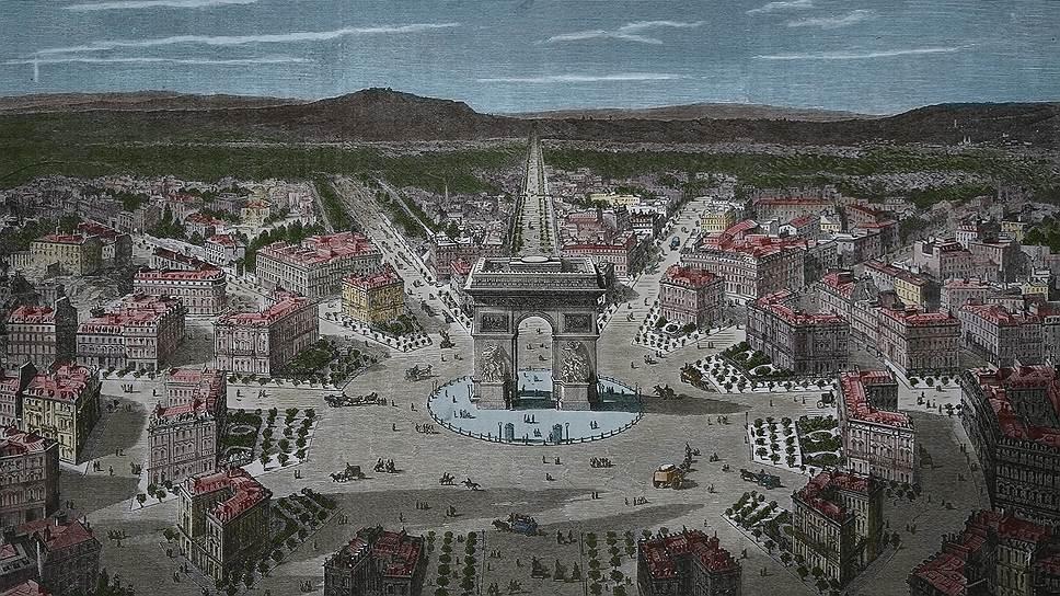 """Париж до середины XIX века был типичным средневековым городом, в котором улицы проложены """"ослиными тропами"""""""