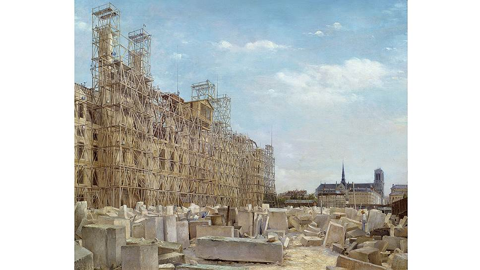 Самой характерной чертой парижского пейзажа во второй половине XIX века были строительные леса