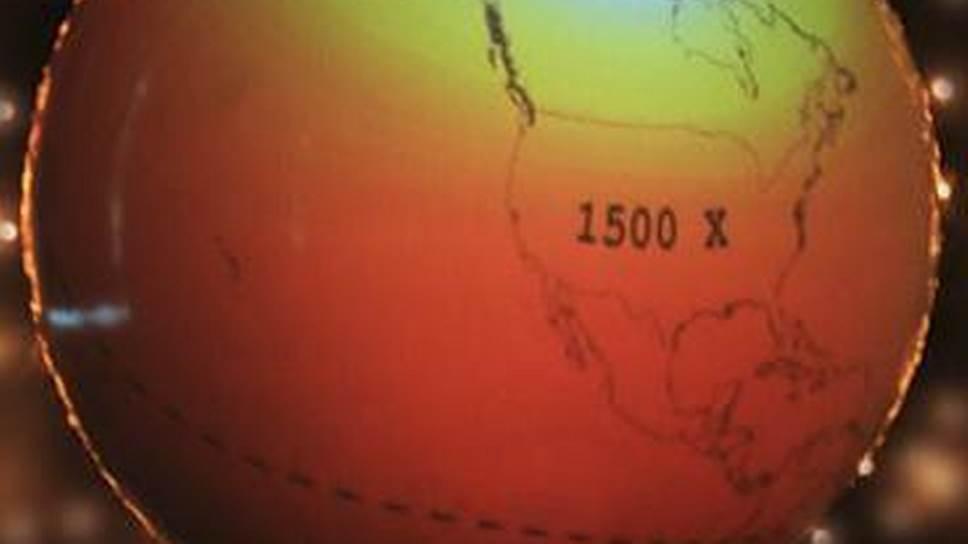 Визуализация результатов модельных расчетов магнитного поля Земли на сферическом экране