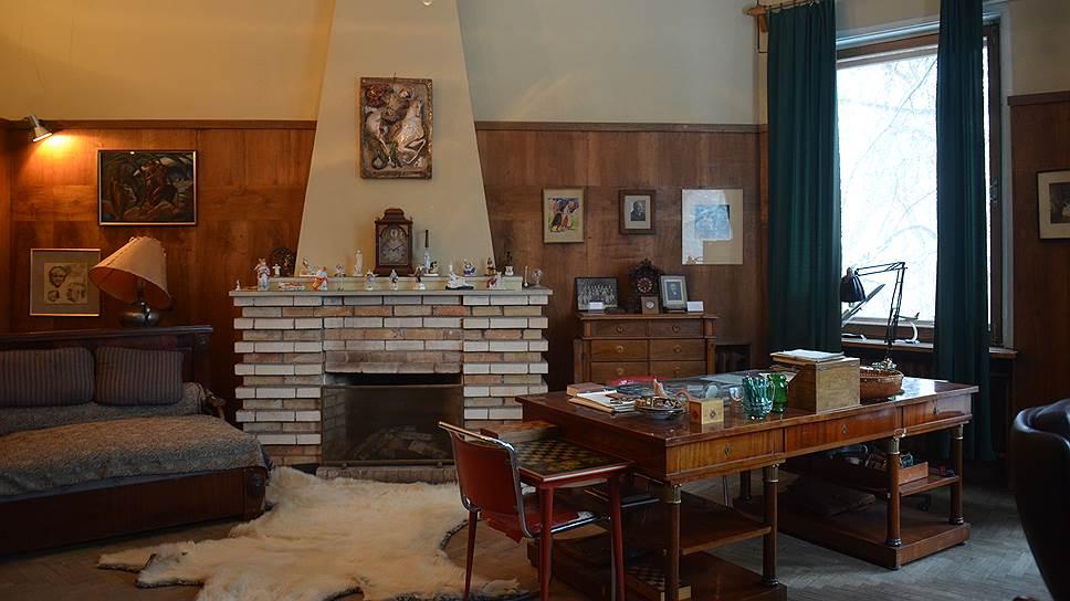 Кабинет Петра Капицы в коттедже на Воробьевых горах