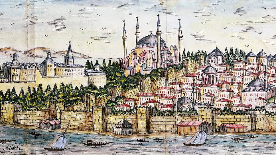 Стамбул. Турецкая миниатюра конца XXVII века. Хранится в библиотеке Стамбульского университета