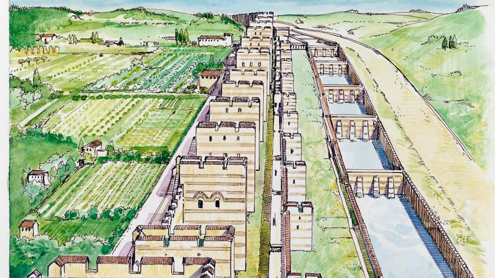 Для своего возраста стена Константинополя – а ей более 1500 лет – сохранилась очень хорошо. Слева направо: схематический рисунок, две гравюры середины XIX века, современная фотография