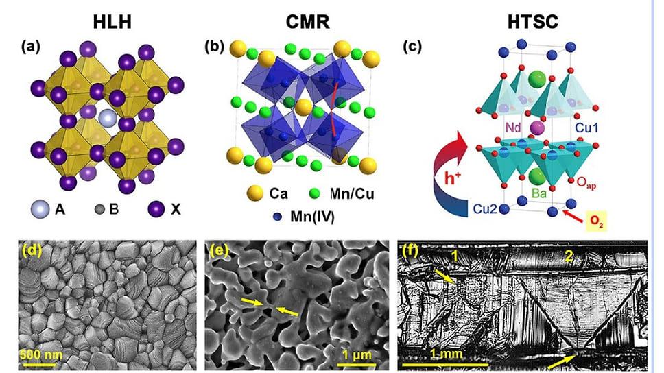 Кристаллическая структура и типичная морфология поверхности некоторых гибридных перовскитов