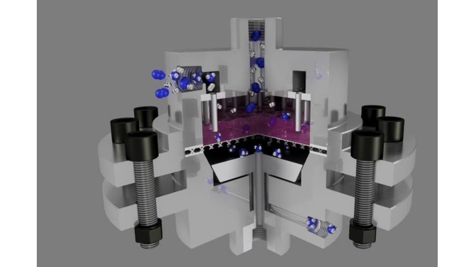 Схематическое изображение установки для мембранно-каталитической очистки газообразных смесей