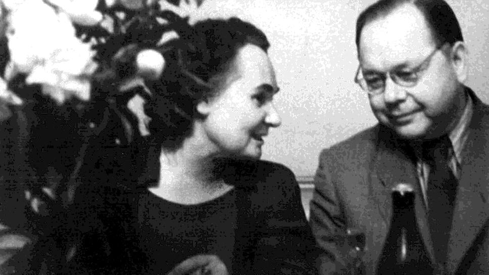 Научные руководители первой технологии обезвреживания высокоактивных жидких отходов Н.Е.Брежнева и В.И.Спицын в 1951 году