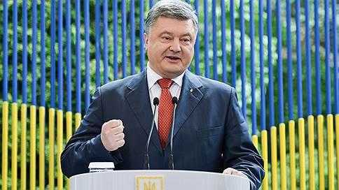 петр порошенко допускает введение военного положения эскалации ситуации