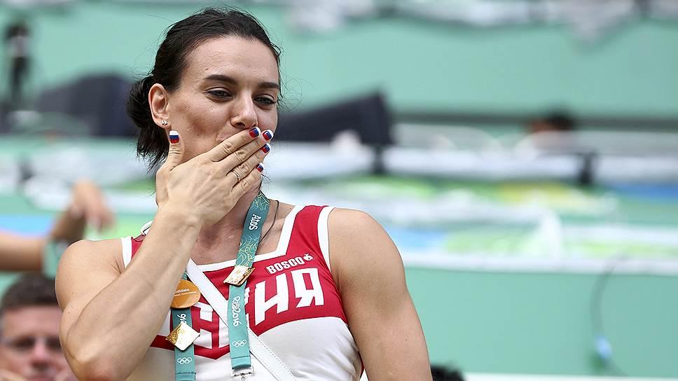 Двукратная олимпийская чемпионка в прыжках с шестом Елена Исинбаева
