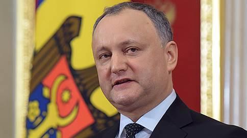 игорь додон газпром гарантировал поставки газа молдавию