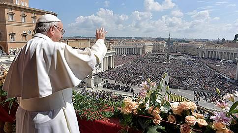папа римский поздравил христиан пасхой пожелал мира сирии