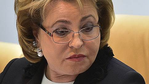 валентина матвиенко раскритиковала работу роскомнадзора