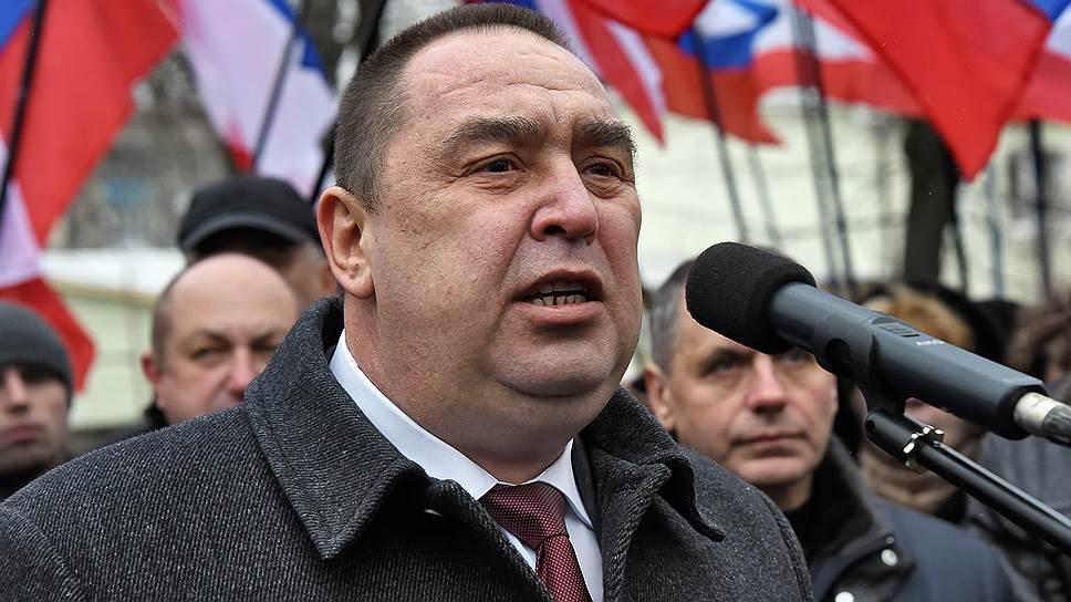 Глава самопровозглашенной Луганской народной республики Игорь Плотницкий
