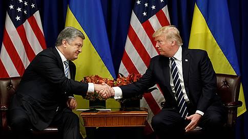Порошенко: Трамп пообещал Украине нелетальное вооружение