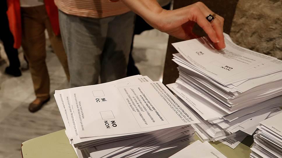 Как в Каталонии проходит голосование на референдуме о независимости
