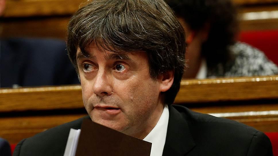 Глава каталонского правительства Карлес Пучдемон