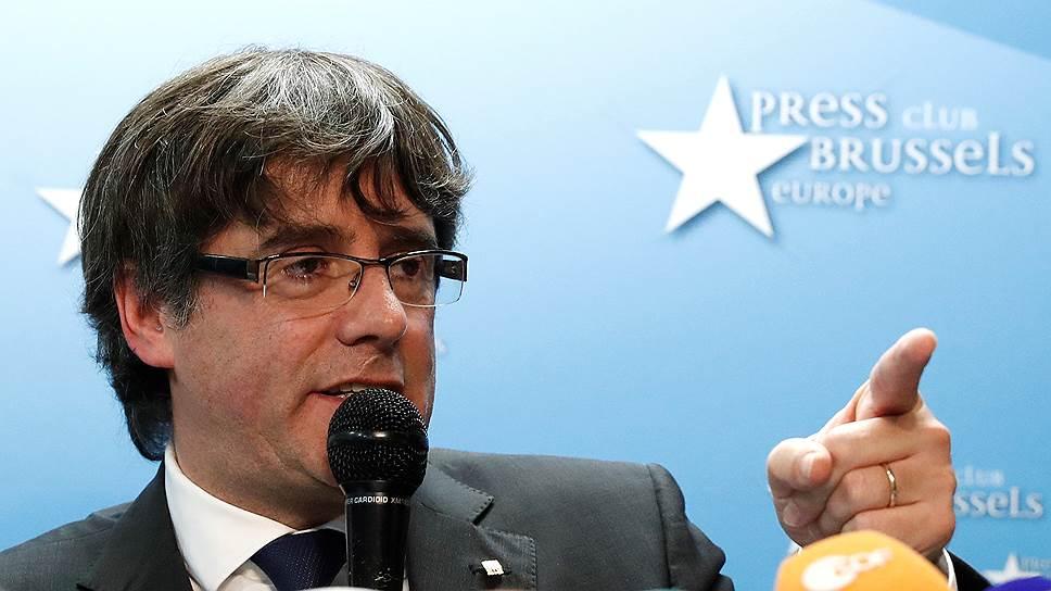 Бывший глава правительства Каталонии Карлес Пучдемон