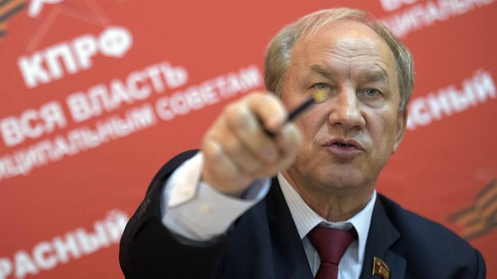 Заместитель председателя ЦК КПРФ, депутат Госдумы Валерий Рашкин