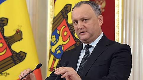 Президент Молдавии попросил у «Газпрома» скидку на газ 10-15%