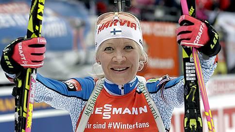 Финка Кайса Мякяряйнен выиграла масс-старт на этапе Кубка мира по биатлону