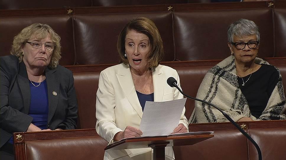 Лидер фракции Демократической партии США в палате представителей Конгресса Нэнси Пелоси