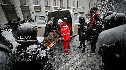 Полиция задержала более сотни человек во время столкновений в Киеве
