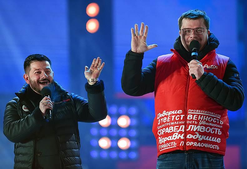 Актеры Михаил Галустян (слева) и Гарик Харламов