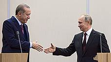 Эрдоган поздравил Путина с победой на выборах