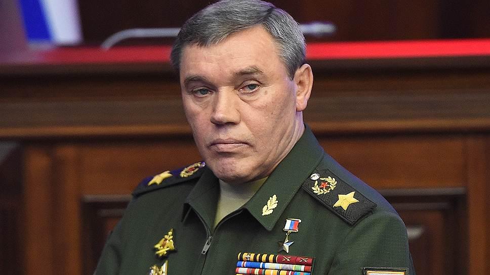 Начальник Генштаба России Валерий Герасимов