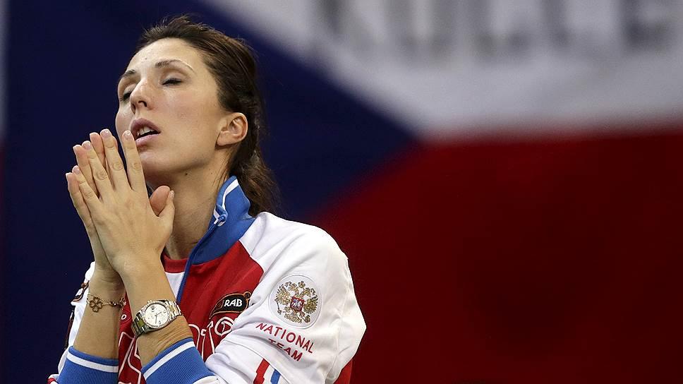 Капитан теннисной сборной России в Кубке федерации Анастасия Мыскина