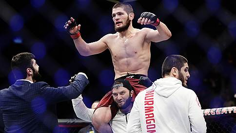Хабиб Нурмагомедов завоевал титул чемпиона UFC  / и попросил Владимира Путина помочь арестованному совладельцу «Суммы» Зиявудину Магомедову