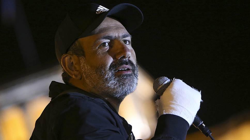 Армянский оппозиционный политик Никол Пашинян