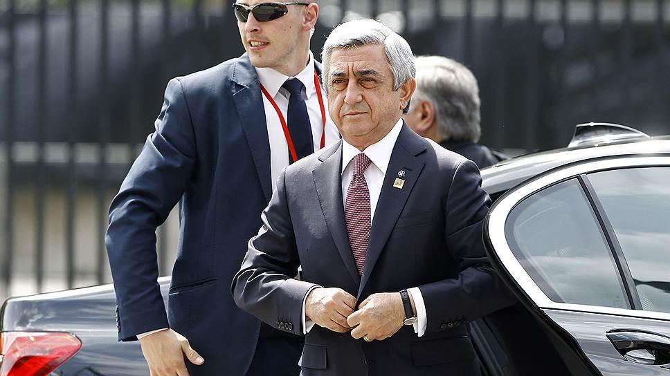 Бывший премьер-министр Армении Серж Саргсян