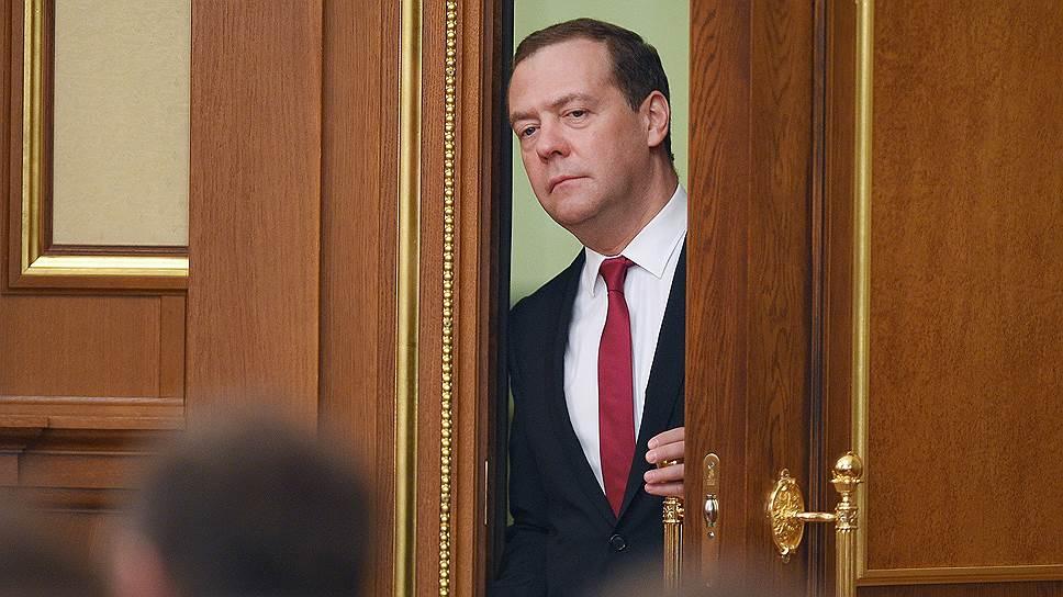 Премьер-министр России Дмитрий Медведев, кандидатура которого предложена президентом Владимиром Путиным на новый срок