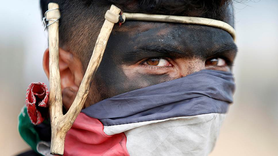 Кадры столкновений в секторе Газа