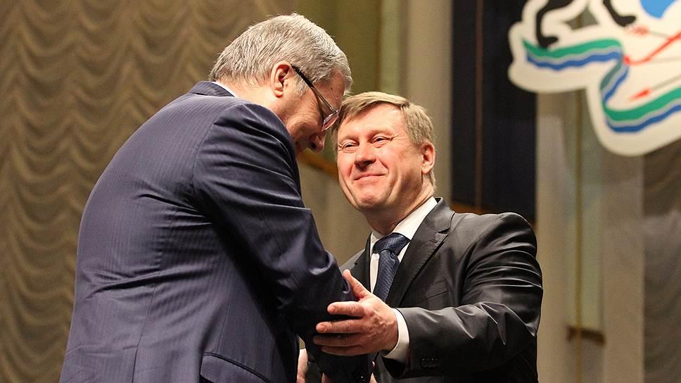 Мэр Новосибирска Анатолий Локоть (слева) и его бывший главный советник Виктор Толоконский