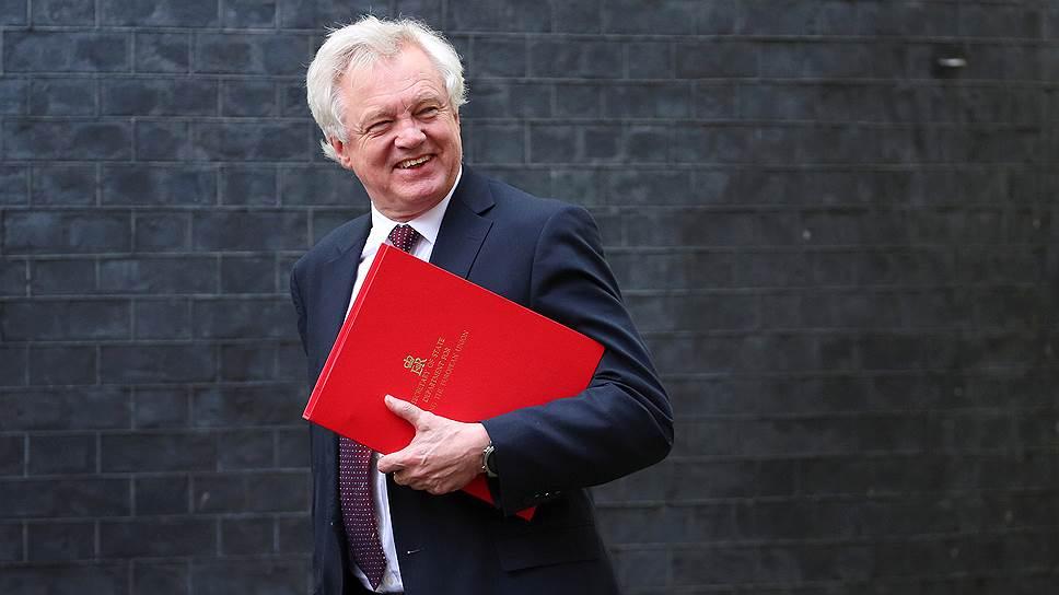 Бывший министр по вопросам выхода Великобритании из ЕС Дэвид Дэвис