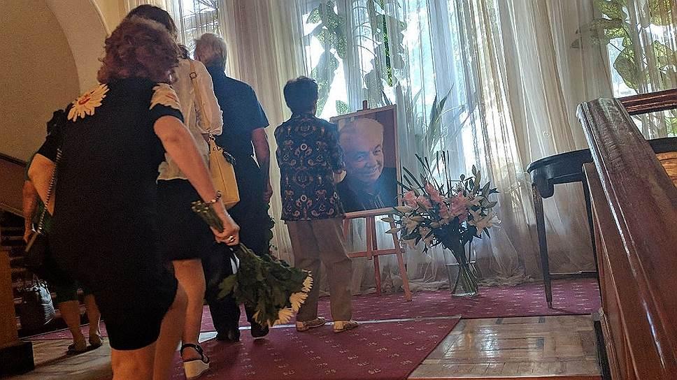 Прощание с писателем Владимиром Войновичем в Москве