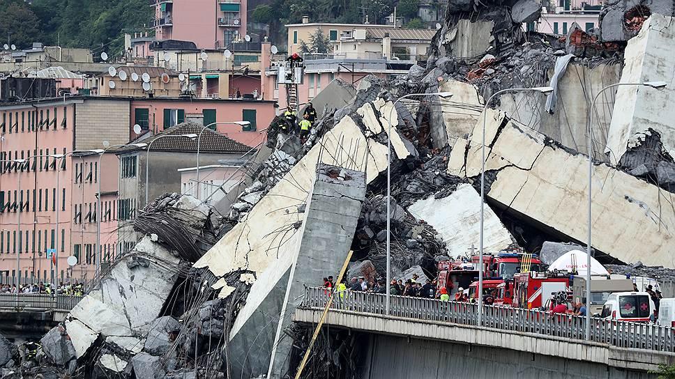 Обрушение моста Моранди в Генуе