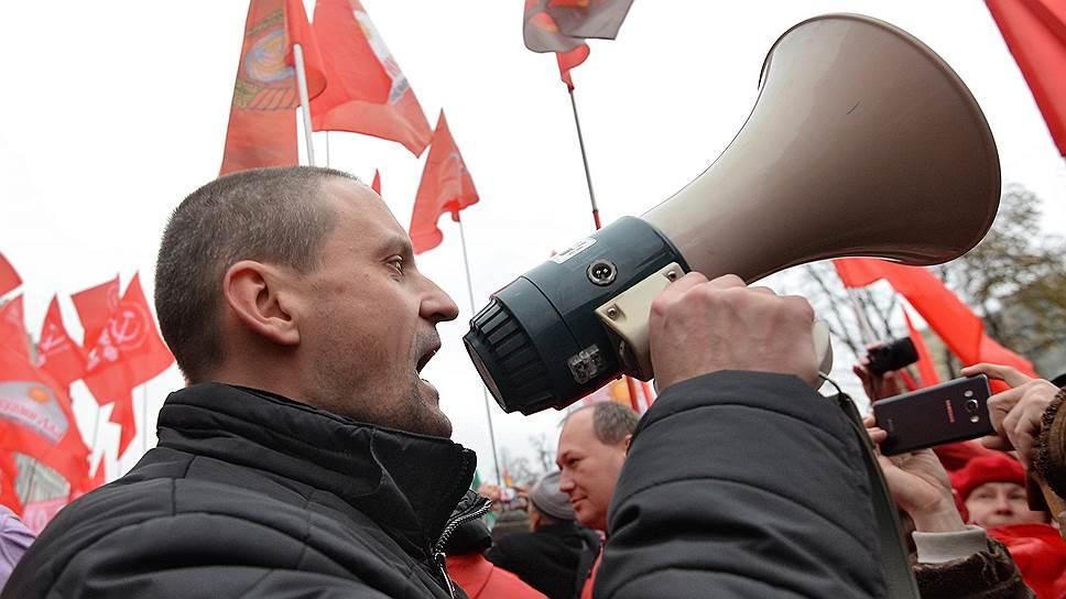 Лидер движения «Левый фронт» Сергей Удальцов