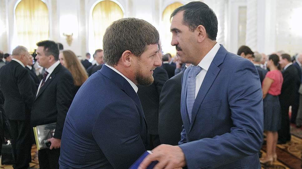 Глава Чечни Рамзан Кадыров и глава Ингушетии Юнус-Бек Евкуров
