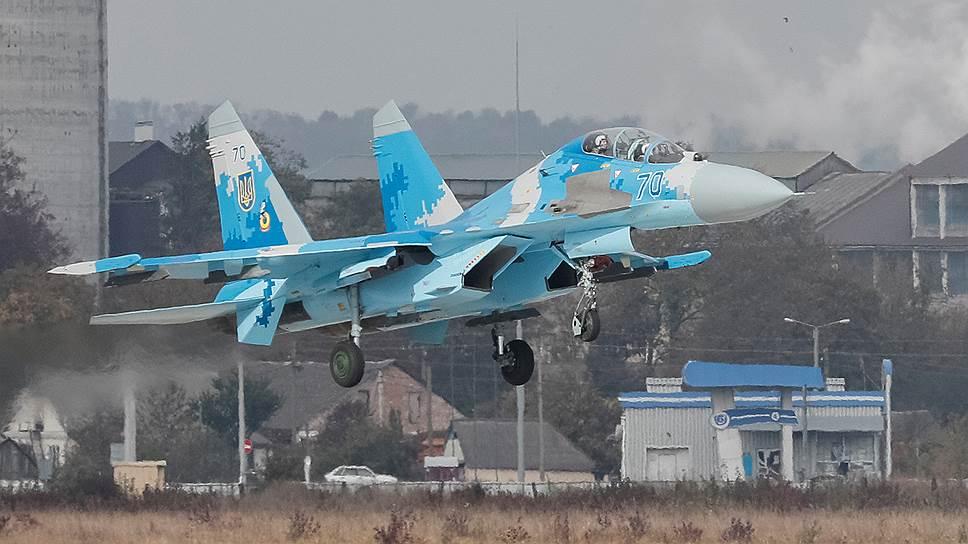 Истребитель Су-27 Вооруженных сил Украины